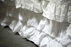Audrey Bed Skirt--can also do a window valance to match with gossamer thin lace curtains