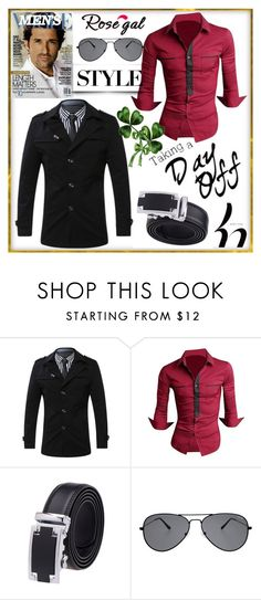 """""""Rosegal style"""" by crvenamalina ❤ liked on Polyvore featuring men's fashion and menswear"""