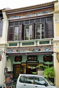 Beautiful shophouse in Georgetown, Penang.Malaysia.Photo by © Barbara Tan