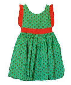 Another great find on #zulily! Green & Orange Raina Dress - Toddler & Girls by Ode #zulilyfinds