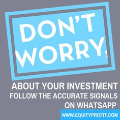 Follow the accurate signals of forex/comex/Stocks - www.equityprofit.com