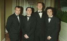 steve, reece, mark and jeremy Royston Vasey, Steve Pemberton, Reece Shearsmith, League Of Gentlemen, Mycroft Holmes, Blackadder, Alan Turing, Mark Gatiss, Photo Grouping