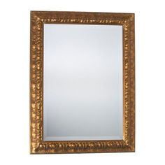 This gilded mirror speaks volumes to the design maven sensibility and gracefully fits into virtually any d