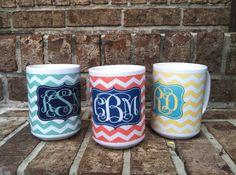 LOVE! Personalized Ceramic 16oz Coffee Mug - Monogrammed Hot Cooca Mug 15oz. - Design Your Own on Etsy, $19.99