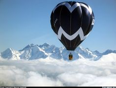 LOT Polish Airlines hot air balloon in flight over Tatra Mountains ~~~ Firefly 7B-15 aircraft picture Photo: Mariusz Adamski