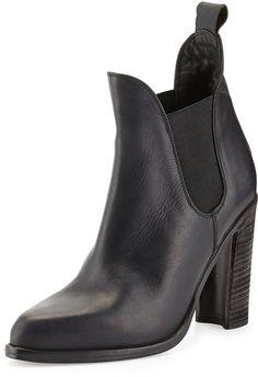 Rag & Bone Stanton Leather Chelsea Boot, Black