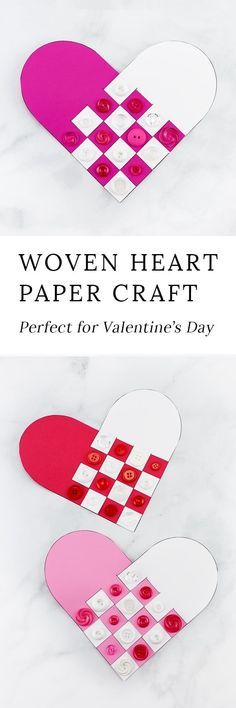 Reminiscent of Scandinavian Woven Hearts, this Woven Heart Craft is an easy and fun Valentine's Day craft for kids of all ages to make at school or home. via @https://www.pinterest.com/fireflymudpie/