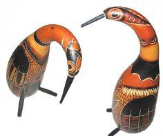 """Pingüinos"""""""" tallada calabaza - mate burilado-Artesanías de Esculturas-Identificación del producto:103909135-spanish.alibaba.com"""