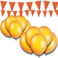 Buy Giant Bunting and Balloon Set - Orange at Argos.co.uk - Your Online Shop for Party decorations.