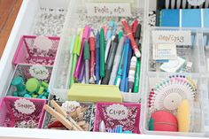 Dirty Little Secret Friday {Office Desk Drawers} | View From The Fridge