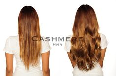 Remy Clip-In Hair Extensions Before & After Pictures | Cashmere Hair Extensions