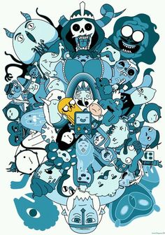 poor Finn and Jake surrounded by all those gobbldy gakers