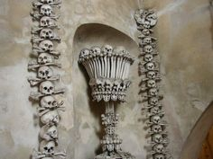 The Sedlec Ossuary, also known as the church of bones, is a small chapel in the Czech republic. It's nickname comes from the 40.000 human skeletons it's decorated with.