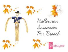 """""""Halloween Scarecrow Pin Brooch"""" by fantasyard ❤ liked on Polyvore featuring Bastien"""