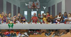 This amazing Last Supper piece created for the Ballzy store in Latvia features Michael Jordan, Kobe Bryant, LeBron James, Allen Iverson and more.