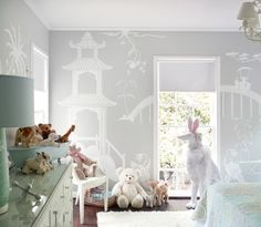 ive never been a fan of asian inspired decor, but these wall murals are so cool.