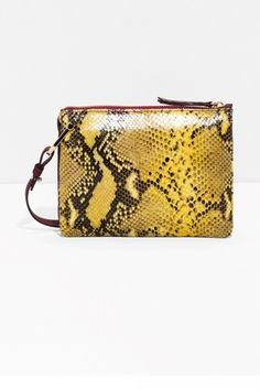 Refresh denim and leather with this cool snake print bag form   Other  Stories. c99cfa1942f2d
