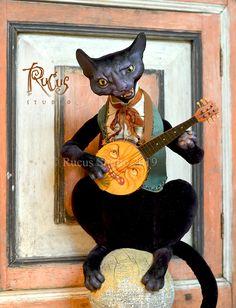 Guest Artist Scott Smith – Rucus Studio – Art Dolls Only Halloween Fairy, Vintage Halloween, Halloween Pumpkins, Halloween Crafts, Halloween Stuff, Halloween Friday The 13th, Scott Smith, Miniature Dolls, Art Dolls