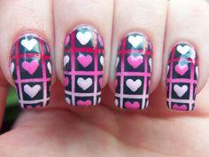 Meg's Manicures: Valentines Lattice With Hearts