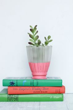 DIY Faux Potted Succulents Upcycled from Fan Lights! Cool tutorial!