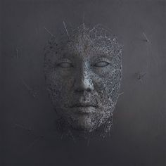 Wire Sculptures of Hands and Faces Come to Life When Overlaid With Digital Elements by Yuichi Ikehata (Colossal) Stone Sculpture, Sculpture Clay, Abstract Sculpture, Wire Sculptures, Contemporary Art Artists, Organic Sculpture, Crystal Garden, Fiction, Colossal Art
