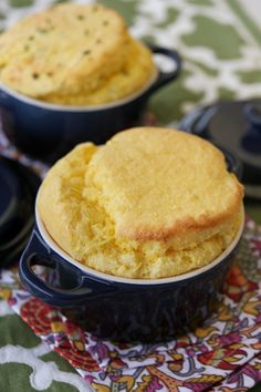 Sweet Corn Spoonbread {2 Ways!} - Sweet with honey and butter OR savory with cheese and chives. Both sound wonderful!