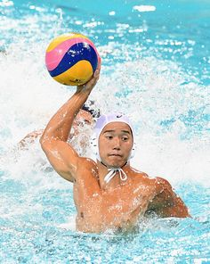 Atsushi Arai of Japan shoots for goal during the Men's Prelimimary Round Group B match between Japan and Brazil on Day 3 of the Rio…