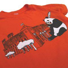 Toddler Orange Panda Tee by Animalinstinctsshop on Etsy - #IHESF 2016 #AnimalInstinctsshop