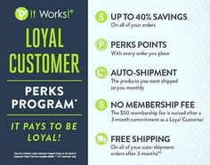 Our loyalty Customer program is awesome! I was a loyalty customer before I became a distributor. This really helped motivated me to start changing my health. I was searching for products that were natural and that would help assist me in my health and fitness goals. I set up a three month auto shipment commitment. I committed to buying one product a month so that I was able to stay withing my financial budget. What's great we sell a variety of products under $30 and every time I referred a…