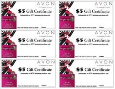 Gift certificate for your Avon Open House Party.