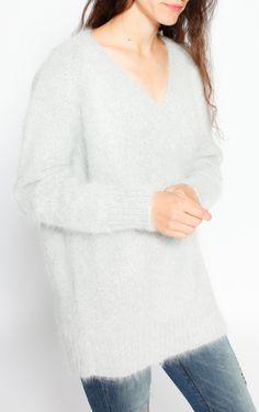 Grey Angora Pullover by Prada