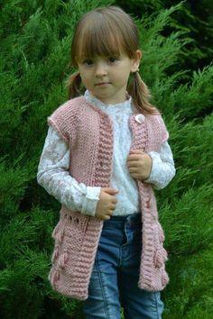 Items similar to Knitting pattern -Vest Sleeveless Almond, Crochet Baby Cardigan, Crochet Coat, Knitted Poncho, Poncho Knitting Patterns, Baby Knitting, Victorian Coat, Toddler Sweater, Crochet For Boys, Vest Pattern