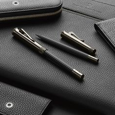 """Graf von Faber-Castell on Instagram: """"Whether dark precious woods in combination with metal or a rich matt black barrel, the black colouring makes the Black Editions of the Graf…"""" Writing Therapy, Graf Von Faber Castell, Luxury Pens, Black Edition, Penmanship, Writing Instruments, Barrel, Dark, Metal"""