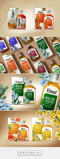Eleo Oil packaging design by a.studio - http://www.packagingoftheworld.com/2018/01/eleo-oil.html