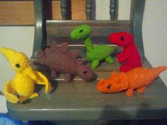 Crochet dinosaurs I made