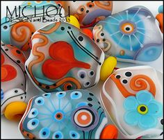 MICHOU´s Art Glass ♥ Love is in the Air ♥ Handmade Lampwork Beads