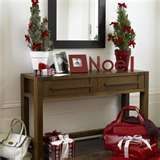 great decorating for sofa table red christmas after christmas christmas hallway vintage christmas