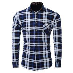 YUNY Men Printing Keeping Warm Plus Velvet Tops Button-Down-Shirts Six XL