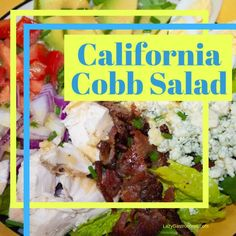 The California Cobb Salad - The signature dish of the Brown Derby Restaurant in Los Angeles - a hearty main course perfect for a summer evening. Brown Derby Restaurant, Red Wine Vinaigrette, Chef Paul, State Foods, Main Dish Salads, Diced Chicken, Cheese Salad, Fusion Food, Fresh Chives