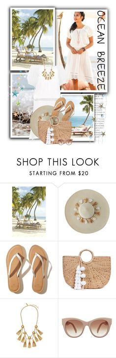 """""""Cabana Hat"""" by tasha1973 ❤ liked on Polyvore featuring Lilly Pulitzer, Hollister Co., JADE TRIBE and Rachel Zoe"""