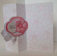 Card designed by Julie Hickey using Label Twister card blank and Rubber stamps.