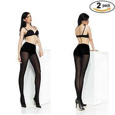 Perfect 2Pack Women Tights Top Control and Silk Reflection, Sheer, Opaque   Bonus -- See this great item.