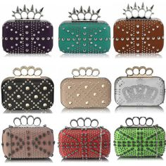 3f60e4fe5 LeahWard Women's Skull Detail Ring Clutch Evening Knuckle Rings Evening Bag  Knuckle Rings, Evening Bags