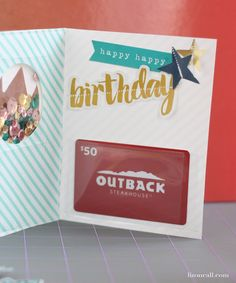 Confetti shaker card tutorial with gift card holder using the We R Memory Keepers photo fuse tool and fuse kit @LizOnCall