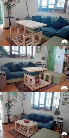 This is how the end of the amazing coffee table designing will look alike! Besides thinking about placing a giant size of the table in your house for the coffee table usage, having such an innovative and brilliant piece of wood pallet table is the ultimate idea.