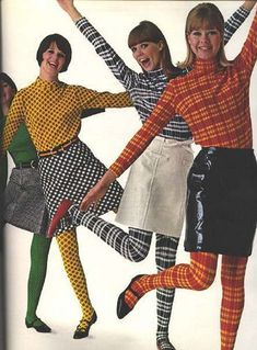 Colleen Corby Aug Matching print tops and tights. Colleen Corby Aug Matching print tops and tights. 60s And 70s Fashion, Mod Fashion, Trendy Fashion, Vintage Fashion, Fashion Trends, 70s Hippie Fashion, Sporty Fashion, Punk Fashion, Lolita Fashion