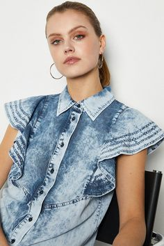 Denim Trends, Dresses With Sleeves, Dresses Dresses, Luxury Dress, Karen Millen, Sequin Dress, Dress Collection, Casual Outfits, White Dress