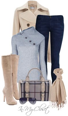 "not crazy about the sweater, but i LOVE the boots.  ""Fall - #93"" by in-my-closet on Polyvore"