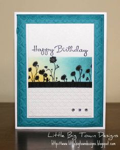 """'Silhouette Sponging' by mnishi using the Stampin' Up! set """"Silhouette Sentiments""""   Gorgeous!"""