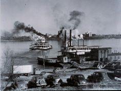 "Fonville Winans, ""Ferry Landing, Port Allen,"" 1938, Silver gelatin print"